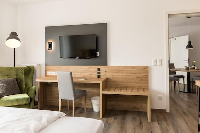 Hotelerweiterung Apartment Hotelzimmer Ansicht Waldhotel zum Bergsee Damme